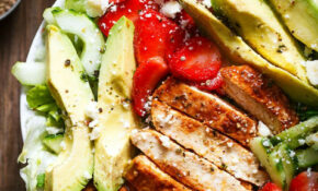Grilled Chicken Salad Recipe With Avocado – Strawberries ..