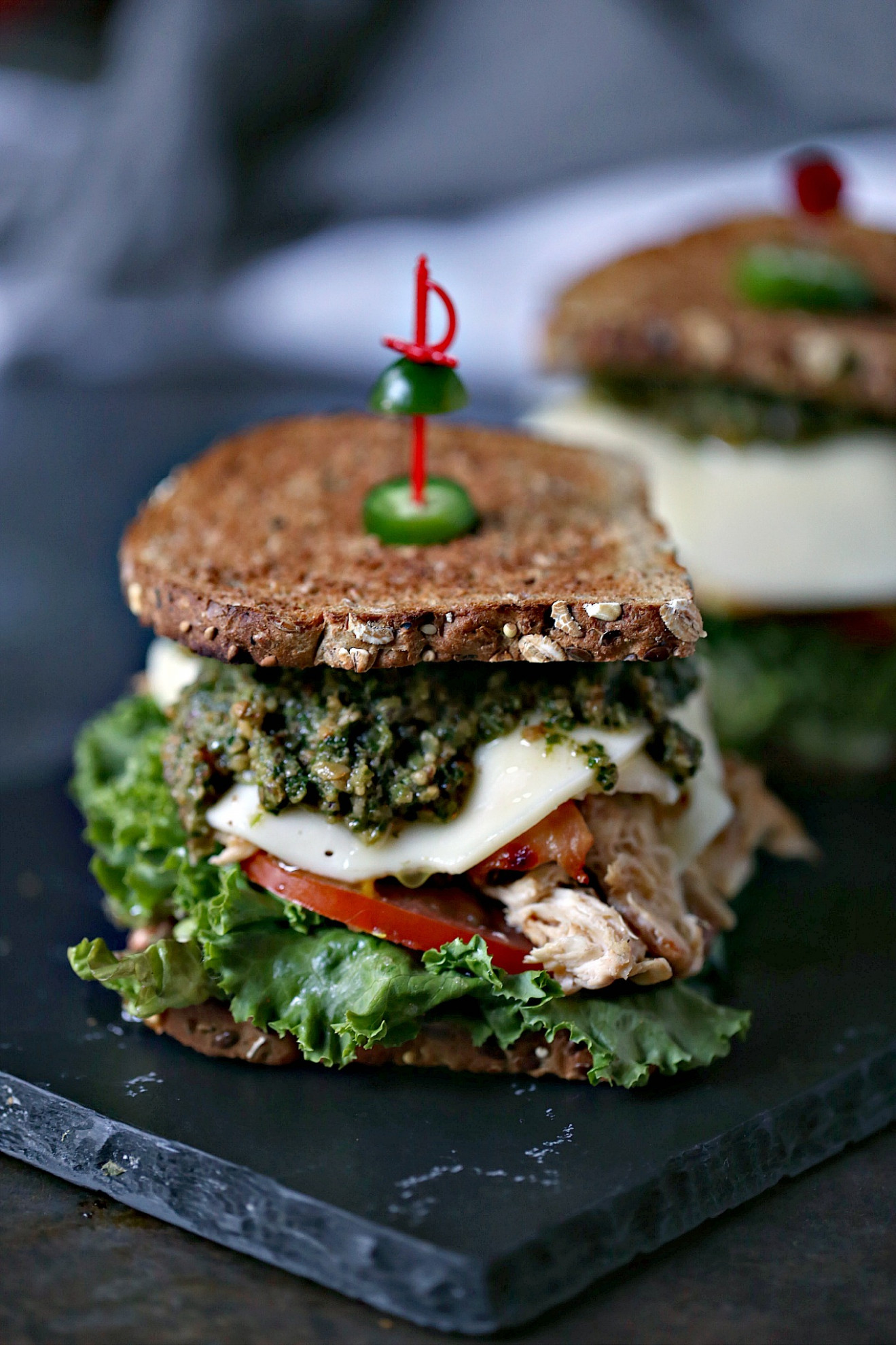 Grilled Chicken Sandwich with Basil Pesto - recipes with grilled chicken