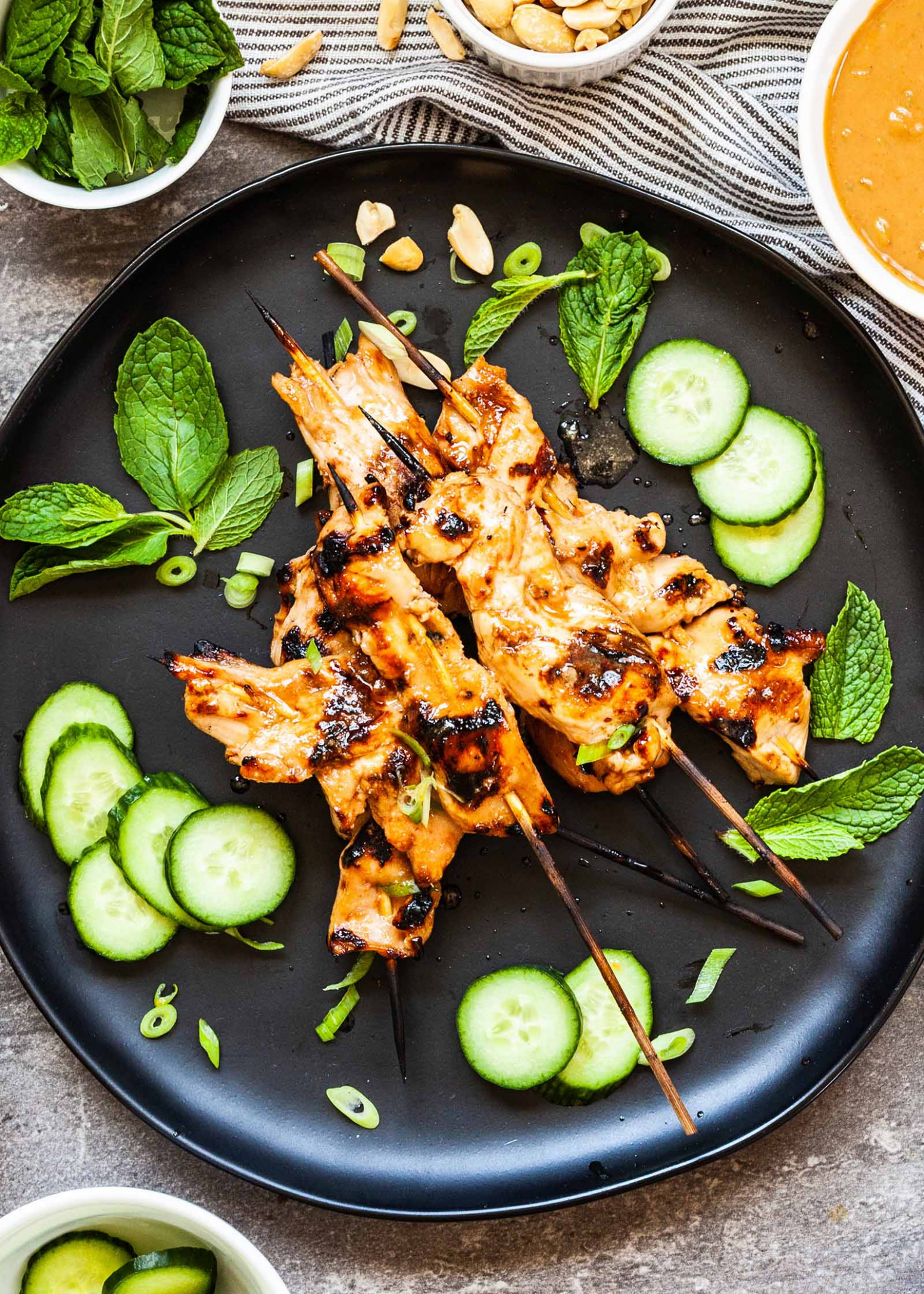 Grilled Chicken Satay with Peanut Sauce - recipes satay chicken