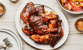 Grilled Chicken With Mustard Barbecue Sauce And Tomato Salad – Barbecue Recipes Chicken