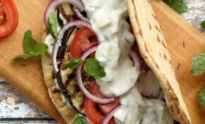 Grilled Eggplant Gyros With Fresh Tzatziki | Recipe ..