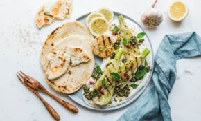 Grilled Fennel With Labneh And Olive And Herbal Pesto | Easy ..