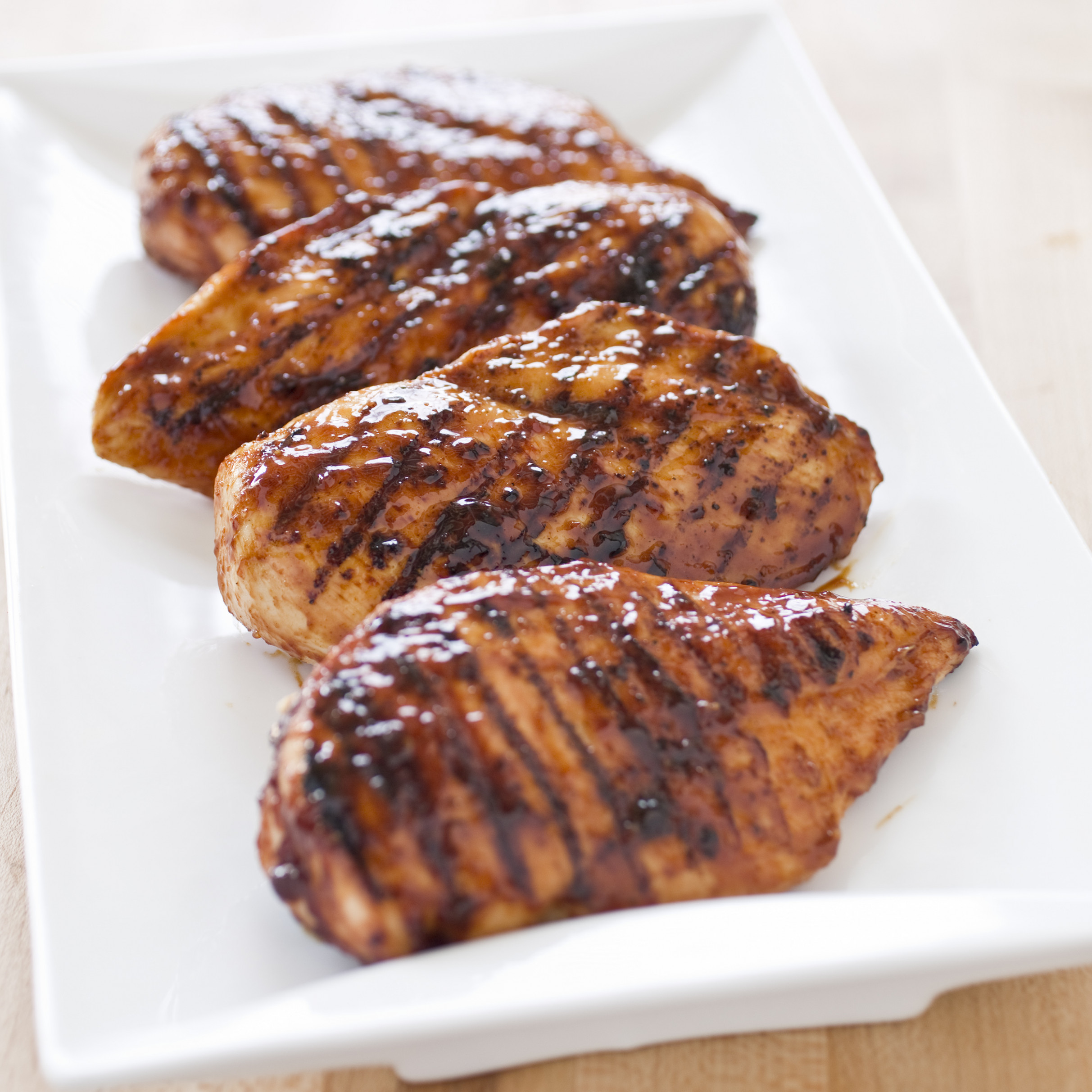 Grilled Glazed Boneless, Skinless Chicken Breasts - recipes of boneless chicken