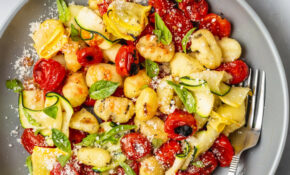 Grilled Gnocchi With Summer Squash And Burst Tomatoes – Summer Recipes Vegetarian