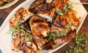 Grilled Greek Chicken Recipe — Dishmaps – Greek Recipes Chicken