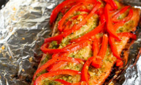 Grilled Pesto Salmon In Foil Recipe | Cookincanuck