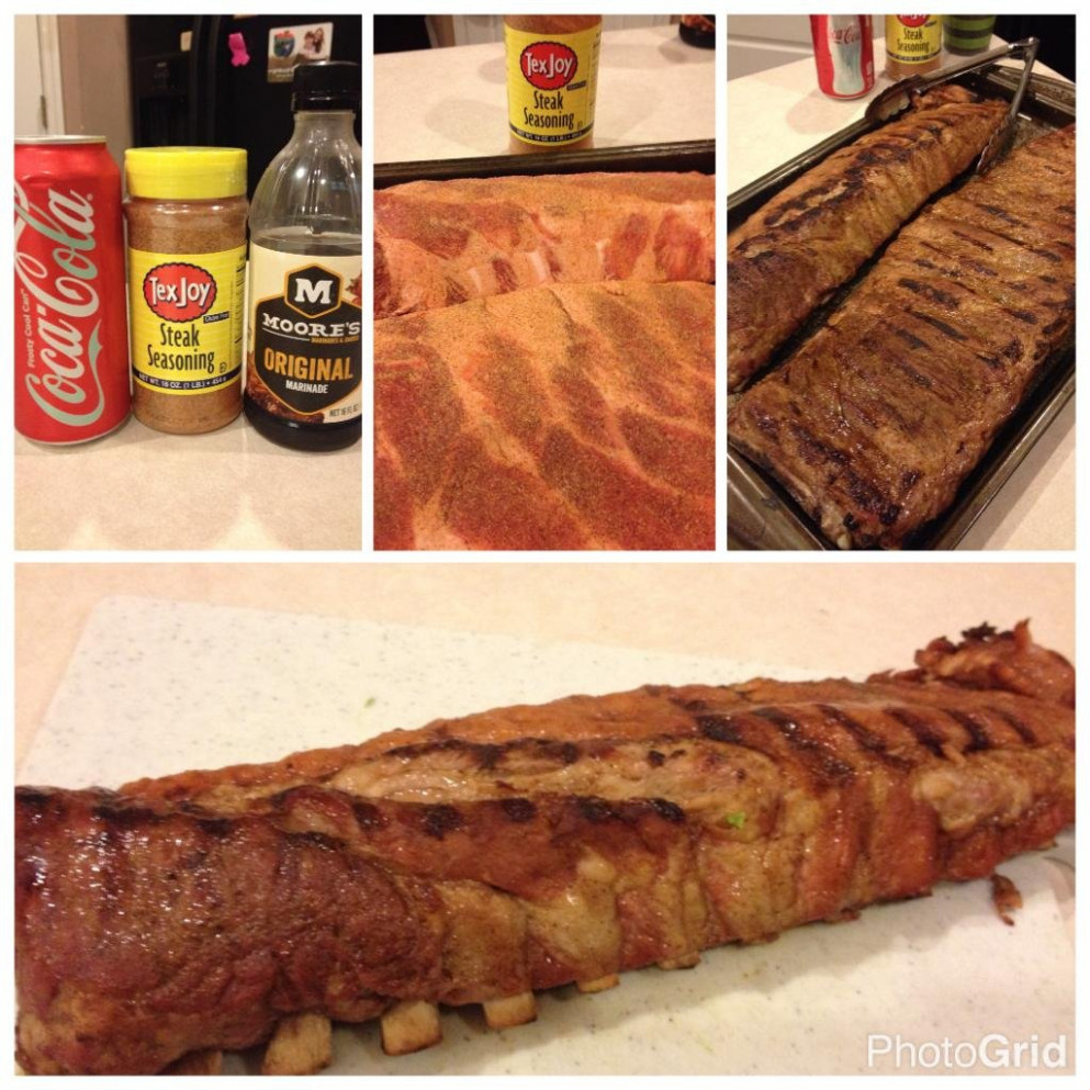 Grilled pork ribs I made using gifts and recipe from my ..