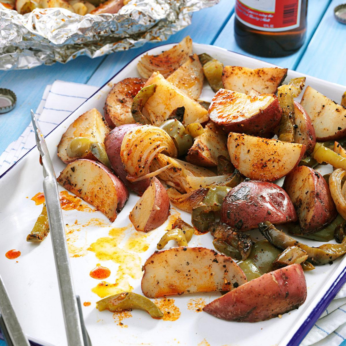 Grilled Potatoes & Peppers - recipes of potato for dinner