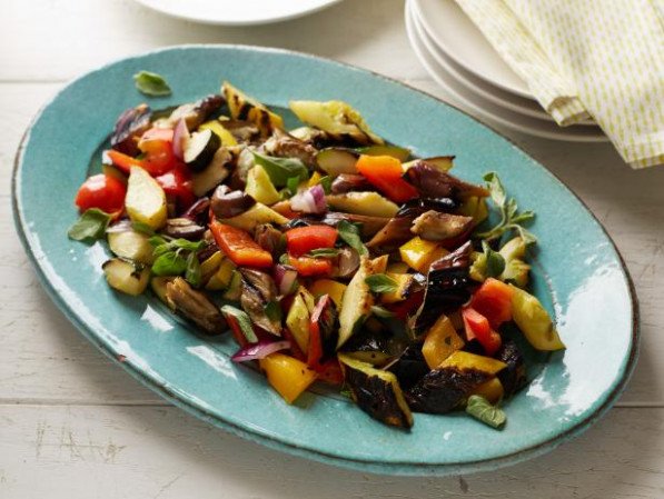 Grilled Ratatouille Recipe | Bobby Flay | Food Network - food network zucchini recipes