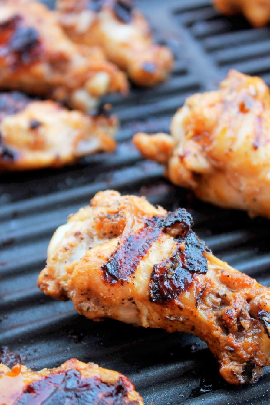 Grilled Sriracha Chicken Wings - Creole Contessa - george foreman recipes chicken