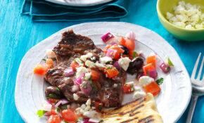 Grilled Steaks With Greek Relish – Greek Dinner Recipes