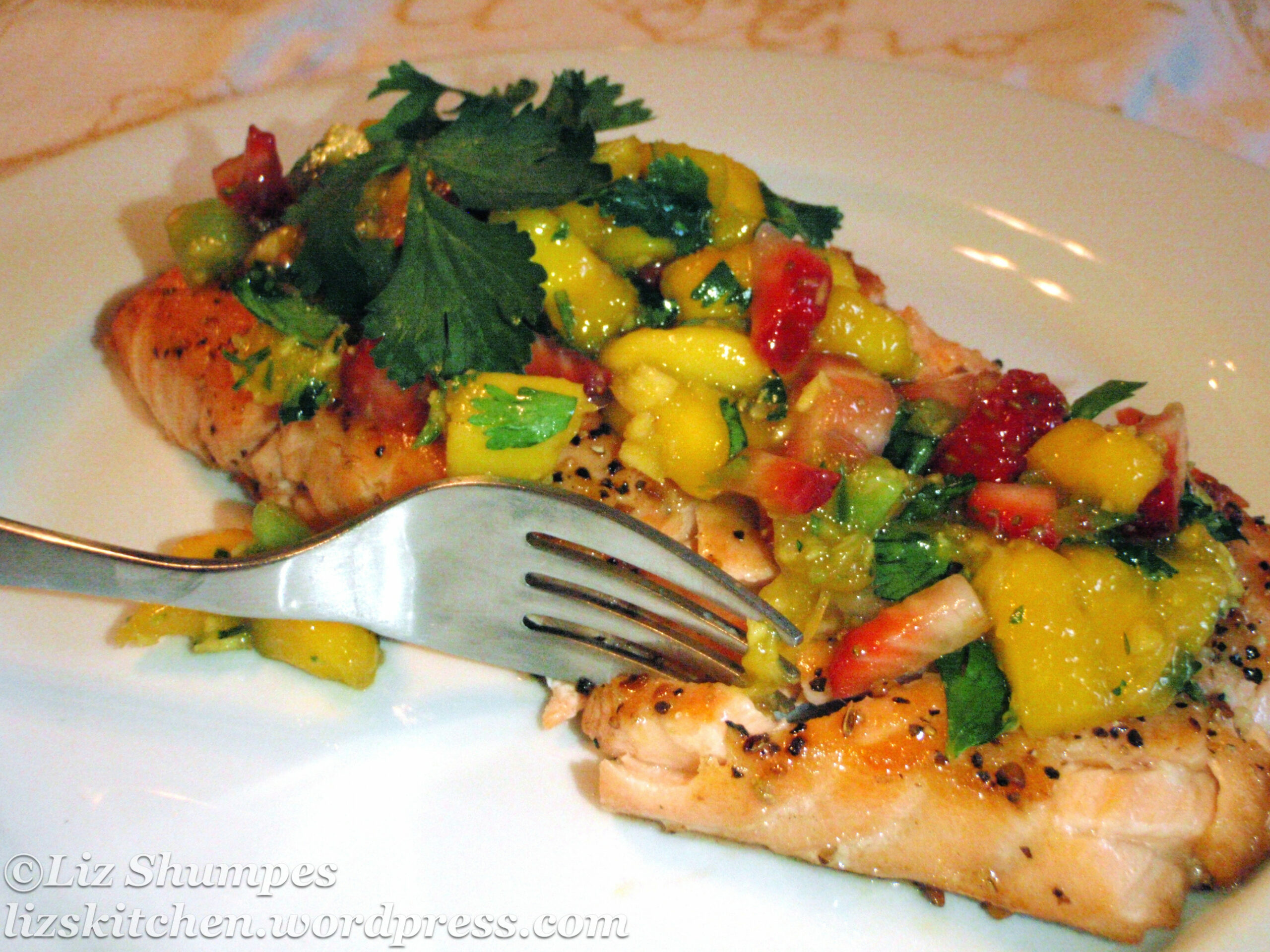 Grilled Steelhead Trout w/Mango Salsa | What's for Dinner?