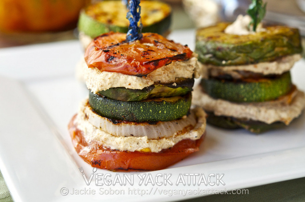 Grilled Summer Stacks - recipes sandwiches vegetarian