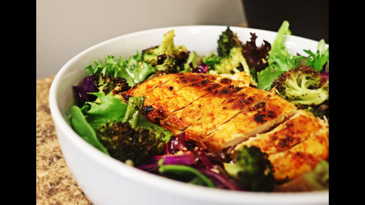 Grilled Tandoori Chicken Breast Salad | Low Calorie Dinner Ideas - chicken recipes low calorie