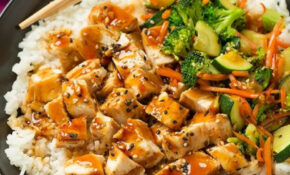 Grilled Teriyaki Chicken Bowls (with Rice & Veggies ..