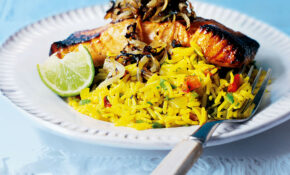 Grilled Tikka Salmon With Spicy Rice Pilaf – Rice Recipes Dinner