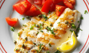 Grilled Tilapia Piccata Recipe | Taste of Home