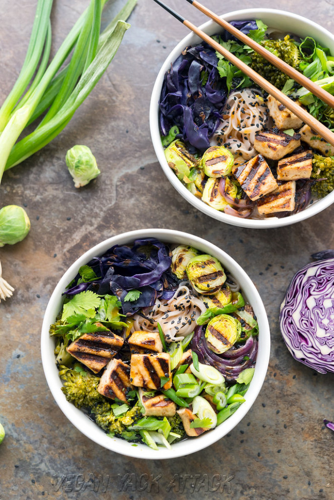 Grilled Tofu Miso Noodle Soup - healthy gluten free recipes