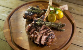 Grilled Veal Chops With Smoking Rosemary – Barbecuebible