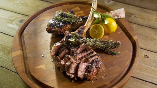 Grilled Veal Chops With Smoking Rosemary - Barbecuebible