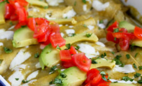 Grilled Vegetable Enchiladas Recipe Gluten-Free | cookincanuck.com #vegetarian