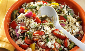 Grilled Vegetable Orzo Salad Recipe | Taste Of Home – Orzo Recipes Vegetarian