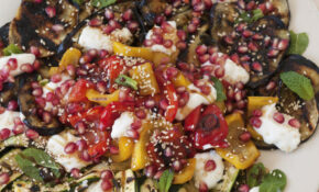 Grilled Vegetable Salad With Mint And Pomegranate ..