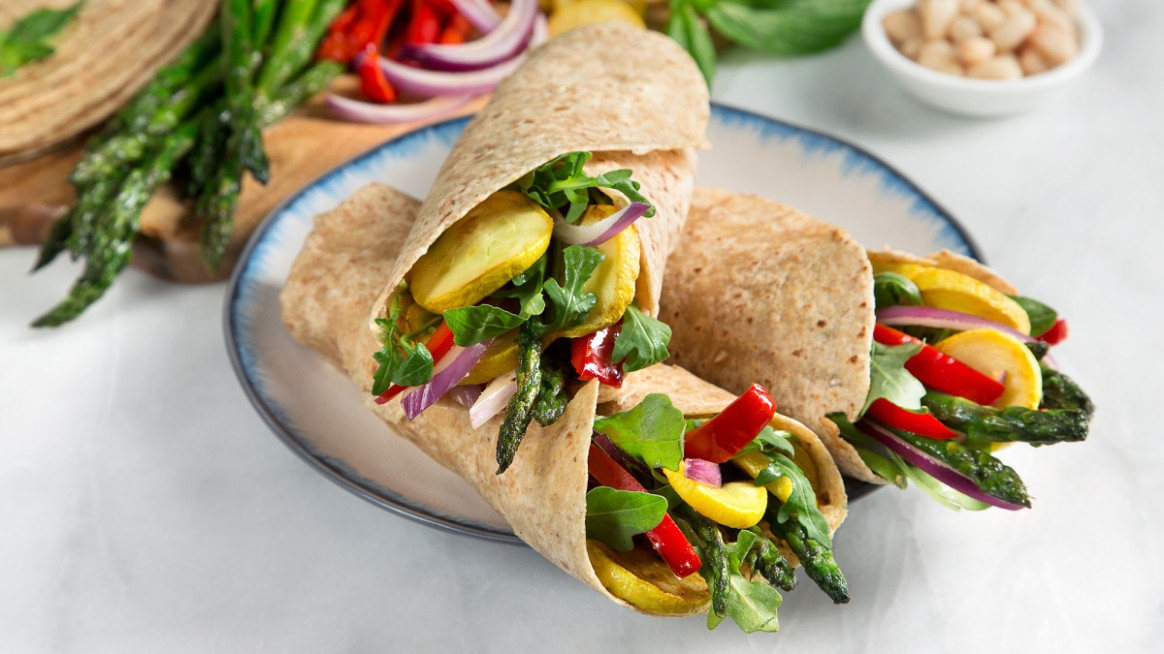 Grilled Vegetable Wrap - recipes vegetarian wraps