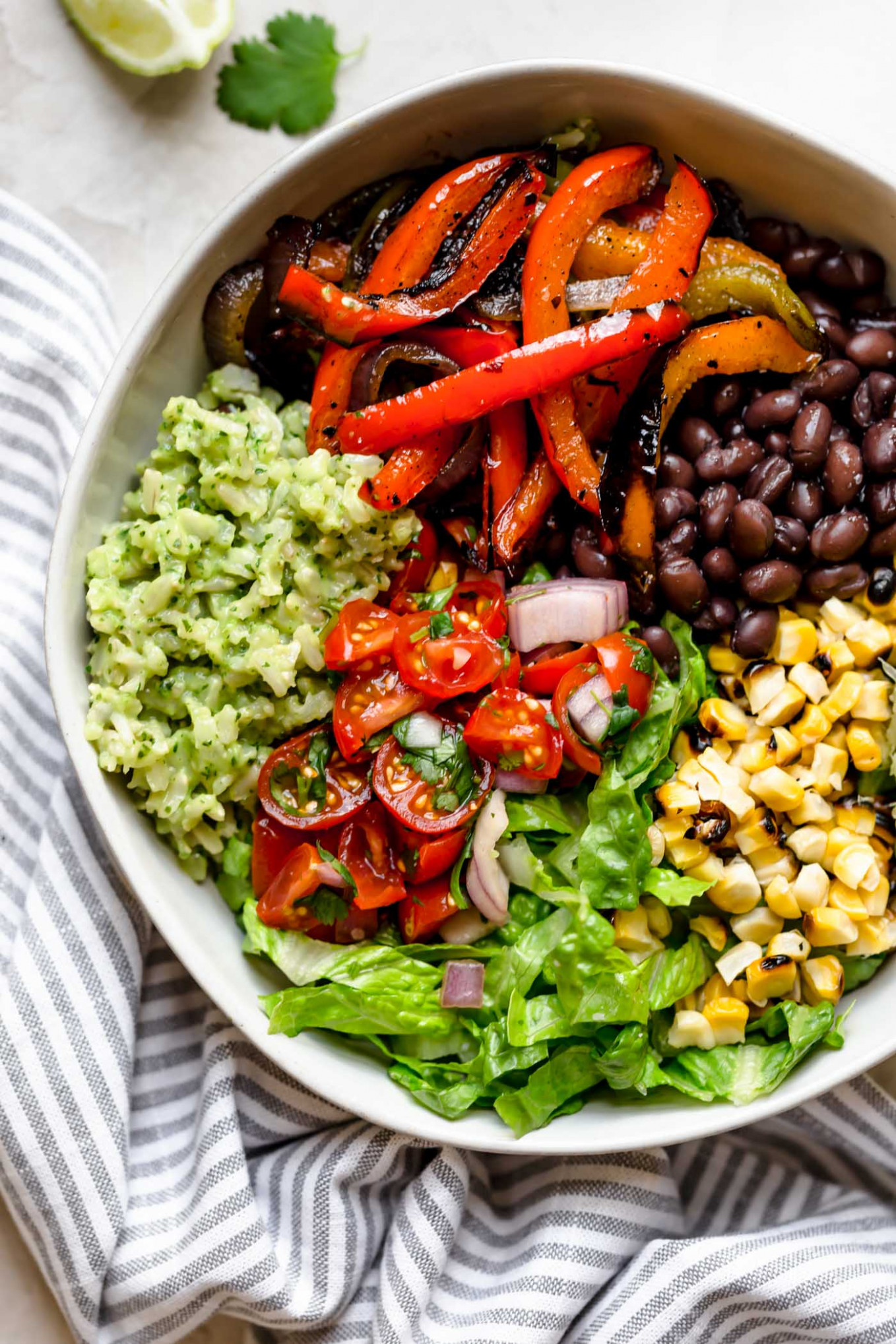 Grilled Veggie Burrito Bowls With Green Rice - Plays Well ..