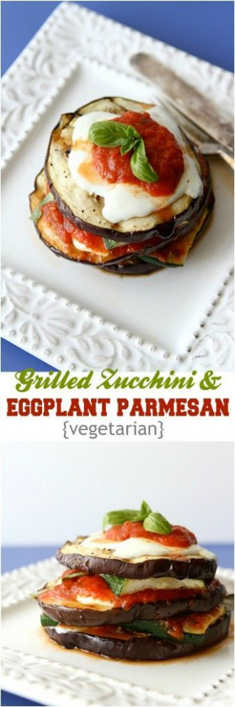 Grilled Zucchini And Eggplant Parmesan Recipe {Vegetarian ..