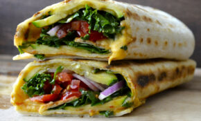 Grilled Zucchini Hummus Wrap + VIDEO – Maebells – Wrap Recipes Vegetarian