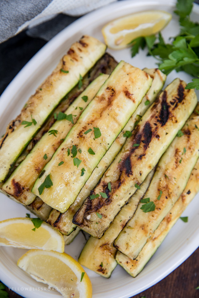 Grilled Zucchini Recipe with Lemon and Olive Oil ..