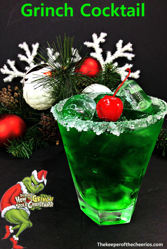 Grinch Cocktail - The Keeper of the Cheerios - food recipes ideas