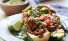 Ground Beef Enchilada Zucchini Boats | Easy Healthy Recipes – Recipes Ground Beef Healthy