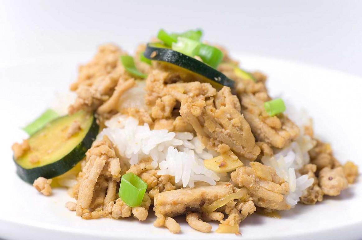 Ground Chicken Teriyaki with Zucchini and Onions Recipe - recipes for ground chicken