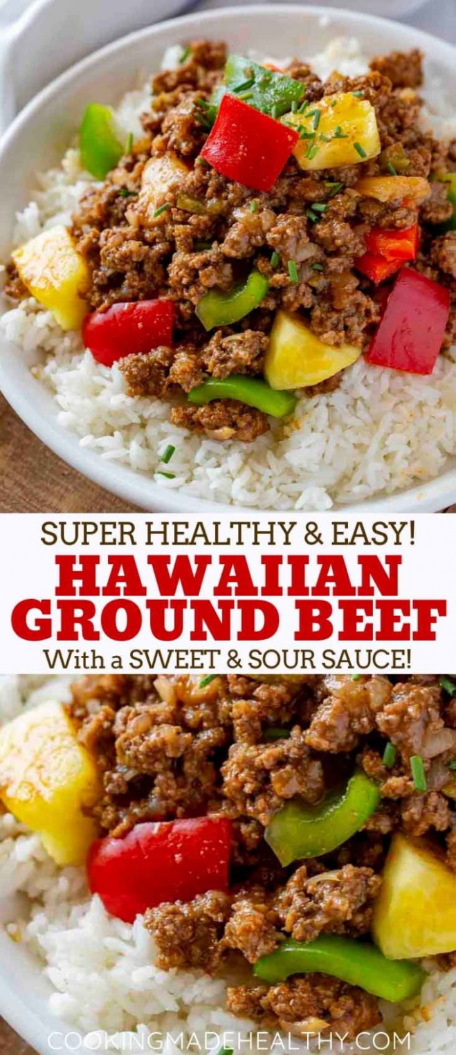 Ground Hawaiian Beef - Cooking Made Healthy - recipes with mince healthy