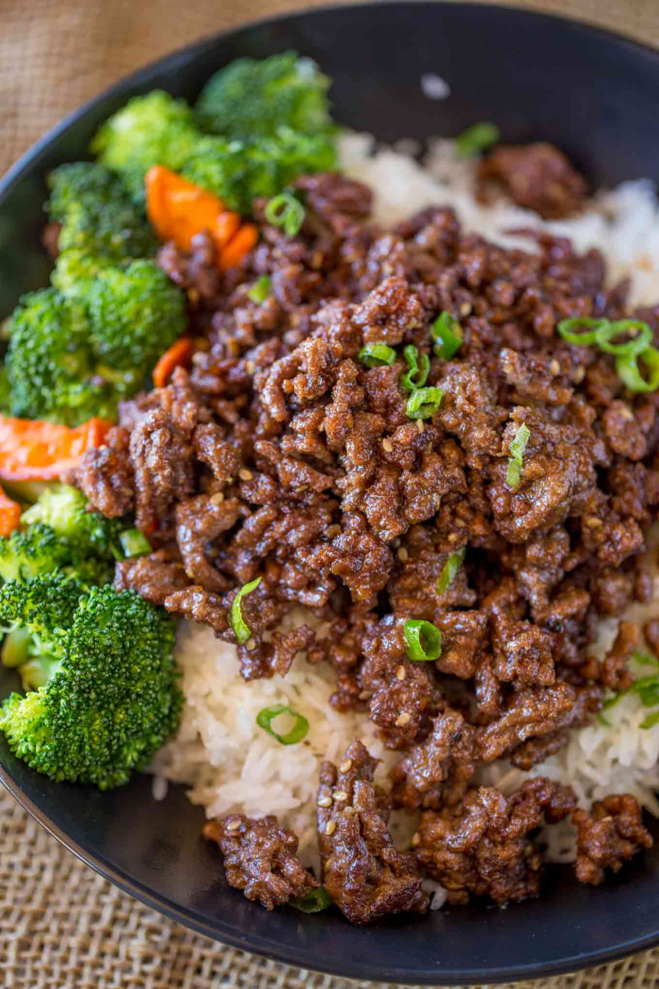 Ground Mongolian Beef - Dinner, then Dessert - recipes ground beef healthy