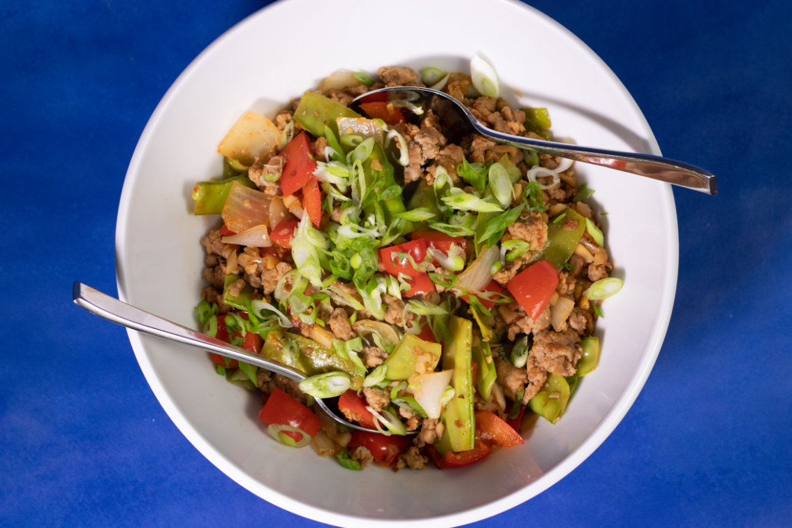 Ground Turkey + Snow Pea Stir Fry - healthy recipes ground turkey