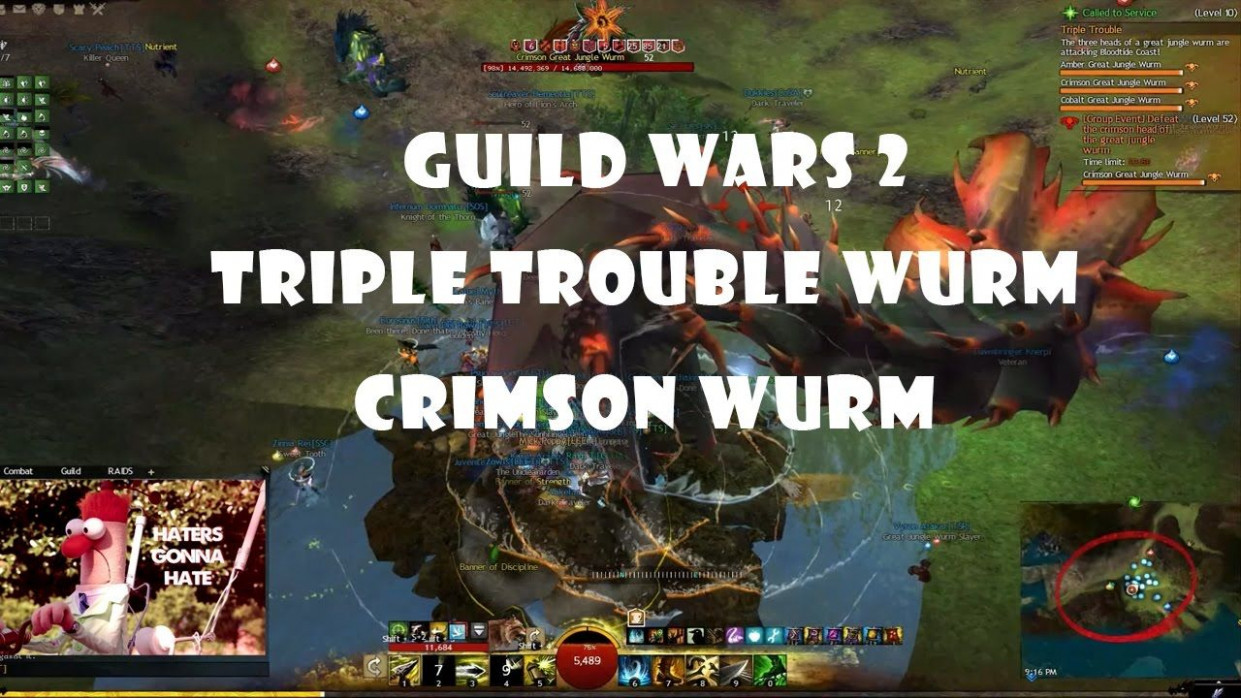Guild Wars 12 | Triple Trouble Wurm - Crimson | CAN YOU CHASE ..