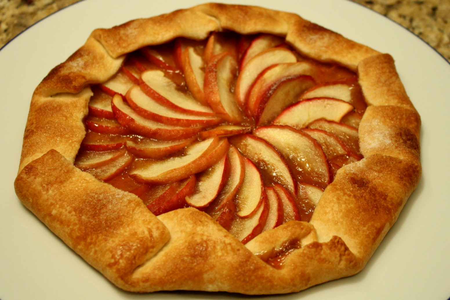 Guilt Free Caramel Apple Pie Tart - WallFoods - healthy recipes using apples