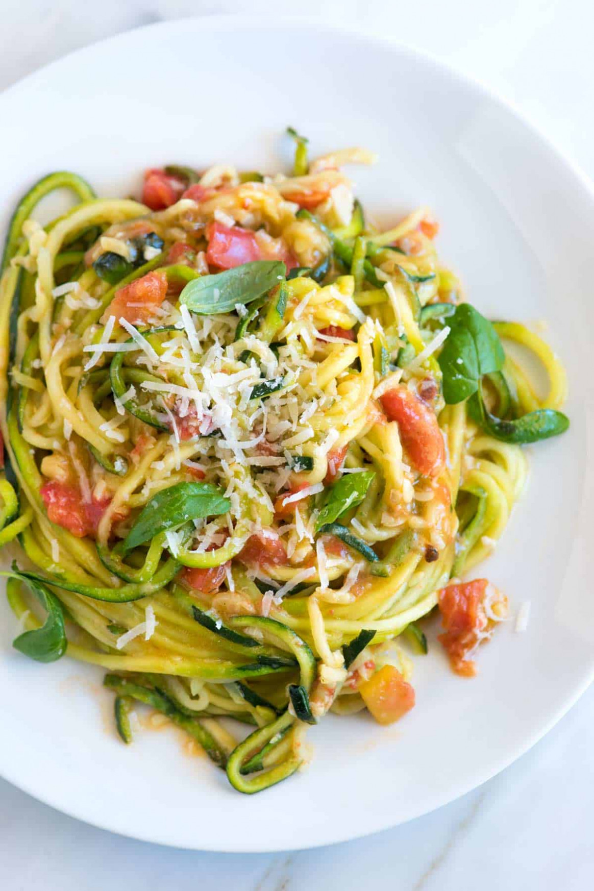 Guilt-Free Garlic Parmesan Zucchini Noodles Pasta Recipe - healthy zucchini noodle recipes