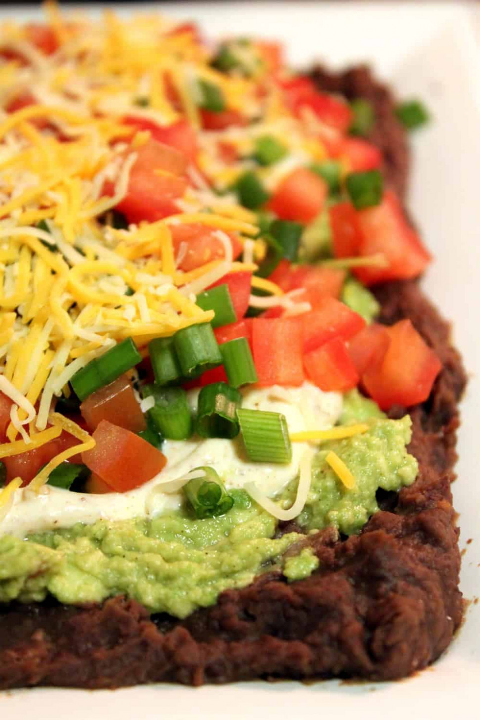 Guilt-Free, Healthy 7 Layer Bean Dip - The Picky Eater - healthy food recipes