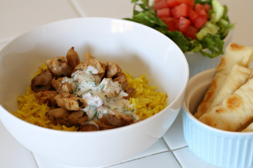 Halal Cart-Style Chicken and Rice - recipes rice and chicken