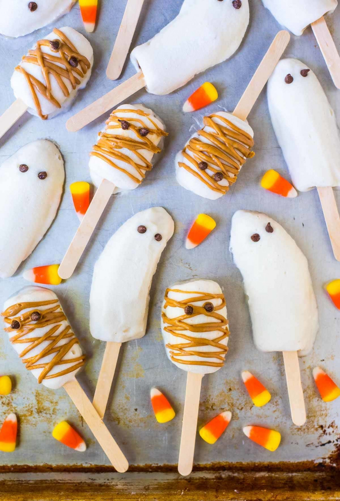 Halloween Banana Popsicles - recipes popsicles healthy