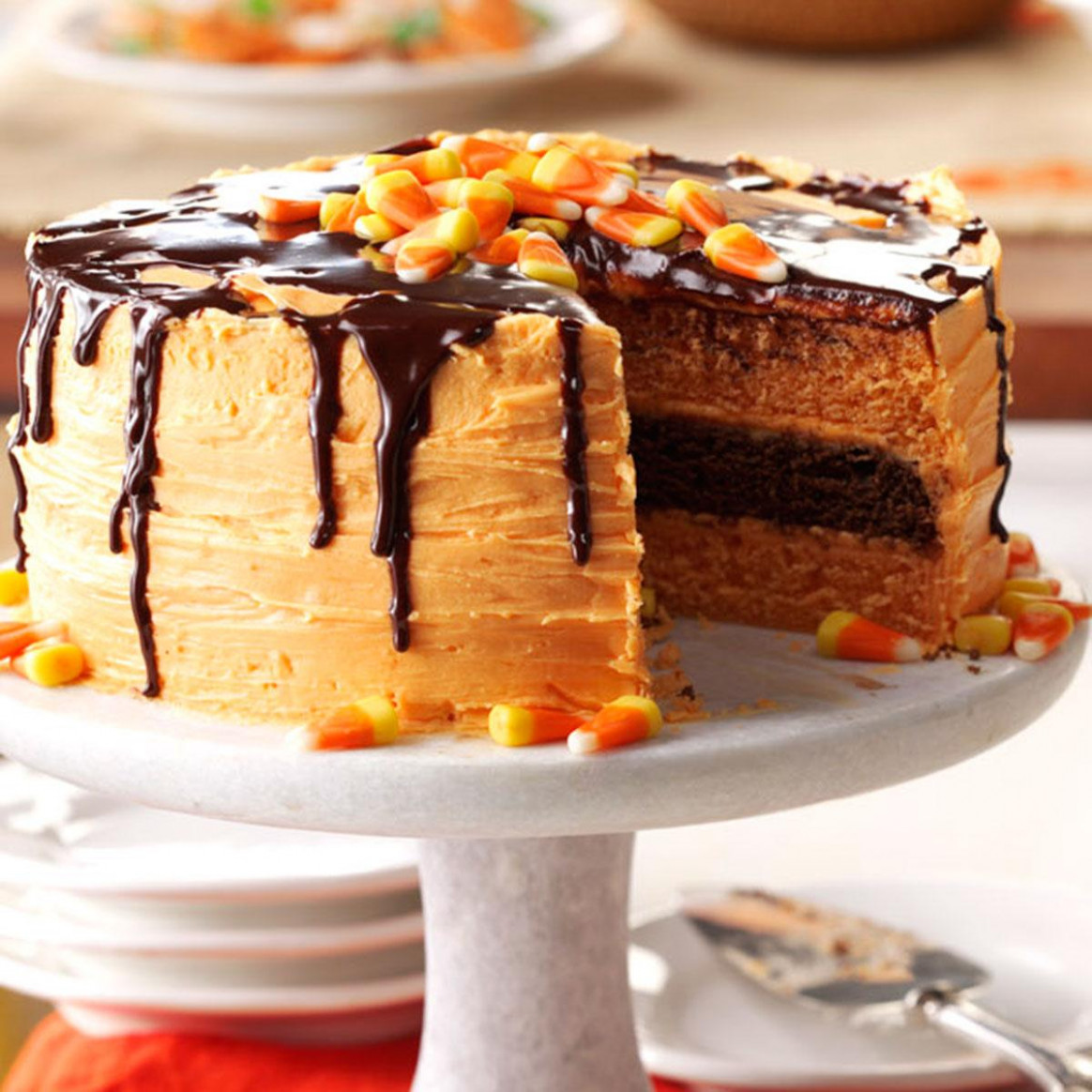 Halloween Layer Cake Recipe | Taste Of Home - Food Recipes Halloween