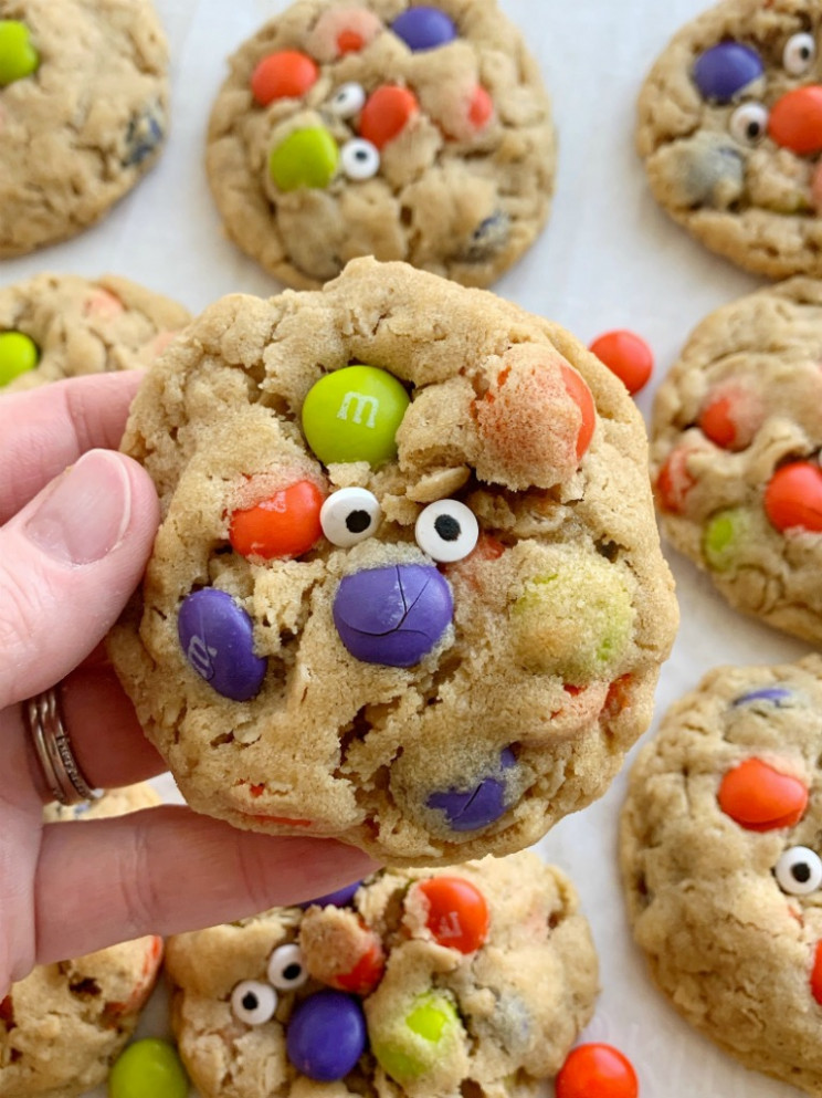 Halloween Monster Cookies - halloween food recipes