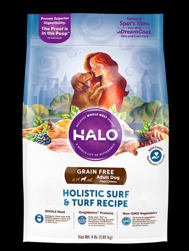 Halo Holistic Grain Free Surf and Turf Recipe for Adult Dogs ..