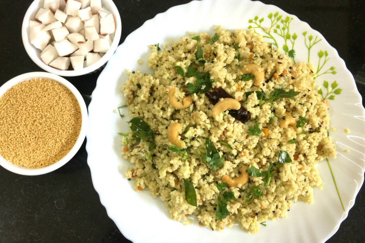 Harisha Recipes : Foxtail Millet Coconut Rice Recipe ..