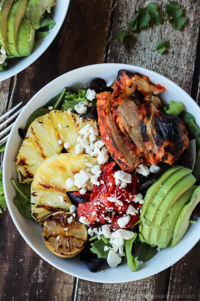 Harissa Lime Grilled Chicken Salad with Creamy Cilantro ..