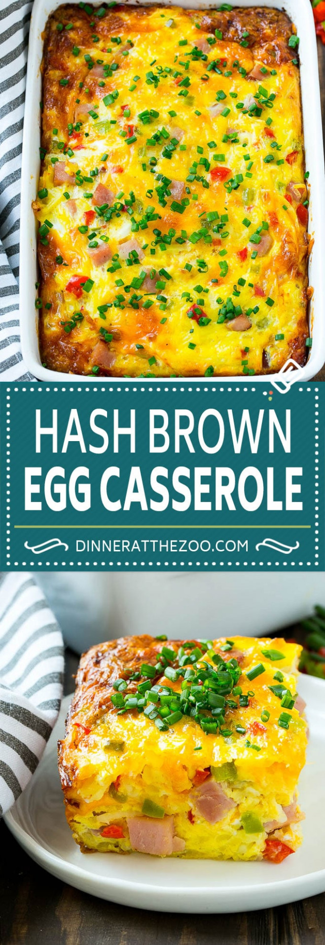 Hash Brown Egg Casserole - Dinner at the Zoo - dinner recipes using frozen hash browns
